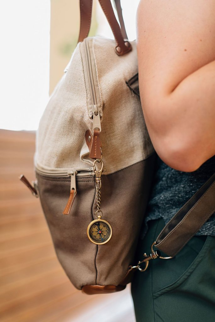 Ethical Stocking Stuffers   Compass Key Chain handmade in India.