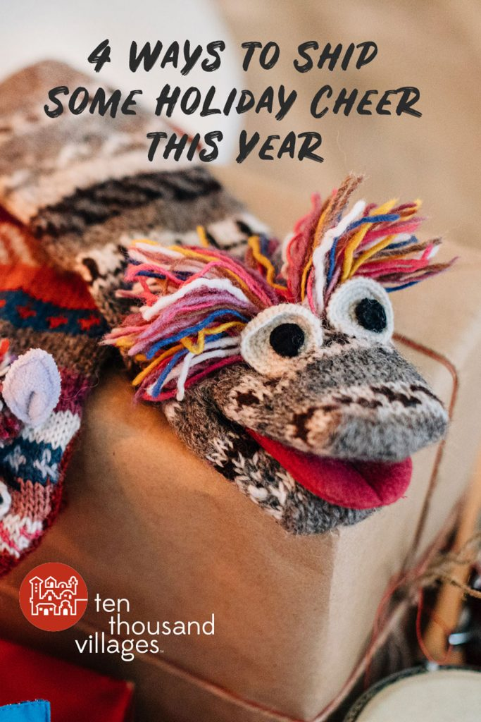 4 ways to ship holiday cheer: sock puppet