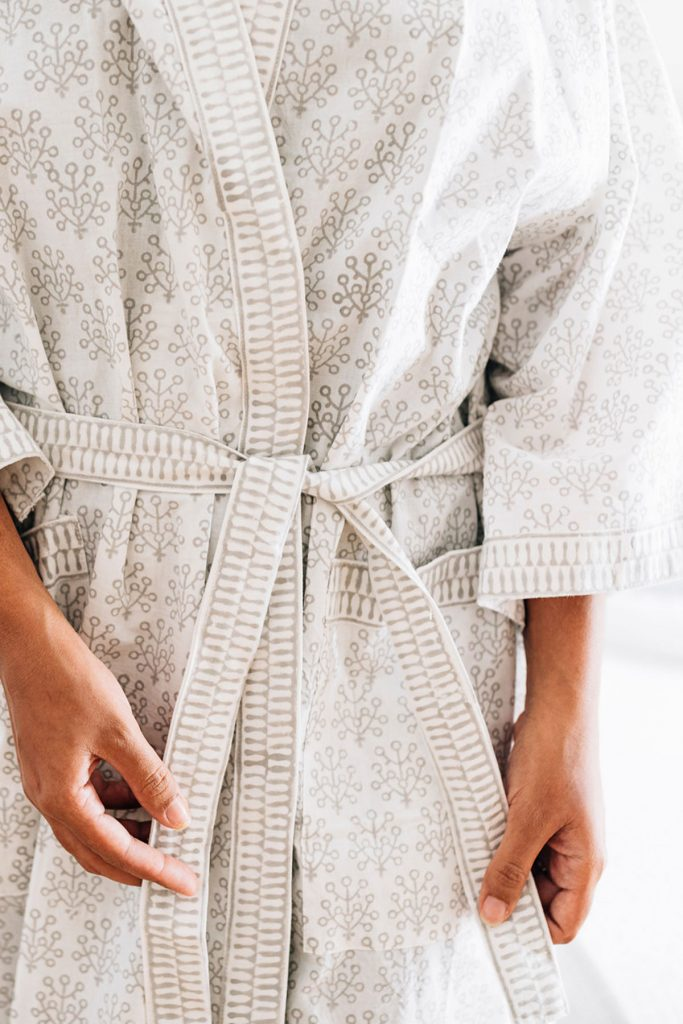Handcrafted cotton robe